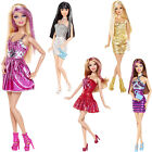 Fashionistas Barbie Doll Glitter Streaked Hair Trendy Outfit Accessories 30cm 3+