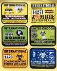 Zombies Assorted Self Adhesive Vinyl 3 Sticker Sets