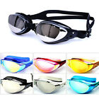 Adult Anti-Fog UV Swimming Goggles Swim Glasses Adjustable Strip Silicone ZJY003
