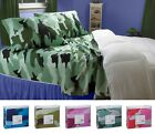 CLARA CLARK DELUXE 820 CAMOUFLAGE COLLECTION DEEP POCKET 4 PIECE BED SHEET SETS