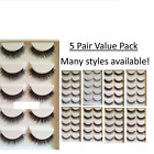 5 Pair Value Pack False Lashes Fake Eyelashes Demi Wispies/Half/Corner/Flick