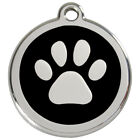 Paw Print Engraved Dog ID identity Tag / disc by Red Dingo in 3 sizes (1PP)