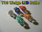 Universal LED Parker Lights Bulbs T10 194 168 Wedge White Blue Red Amber Green