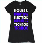 EDM LIST WOMEN T SHIRT DANCE LOVE RAVE TRAP TECHNO DJ CONCERT TRANCE HOUSE EDC