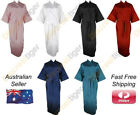 Full Body Length Extra Long Kimono Satin Robe Bath Dressing Gown Wrap Bridal