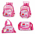 Peppa Pig Suzy Sheep Backpack Rucksack Satin Lunch Bag Girls Pink School Nursery