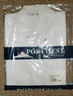 NEW BAKERS SHIRT PORTWEST WHITE SHORT SLEEVES S XXL XXXL FOOD INDUSTRY CATERING