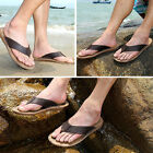 New Adult's Leather Sandals Beach Slippers Boy's Toe Drag Flip Flops Shoes F75