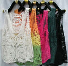 Women's Lace Blouse Sleeveless Floral Hollow Smock Knit Tank Top Waistcoat vest