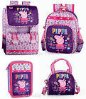 Peppa Pig Pink Backpack Rucksack Lunch Bag Girls Flower School Travel Nursery