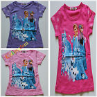 BNWT Frozen Disney Elsa Anna Olaf Summer Tee Top T-shirt SZ 3-8