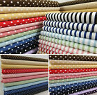 SB Basics Spots Stripes Check Polka Dot 100% Cotton Fabric