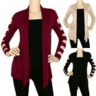 IRON PUPPY Women's Cool Cut Out Sleeve Front Open Draped Cardigan Kint Sweater