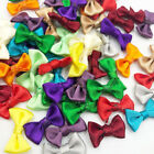 Small Satin Ribbon Bows Flower Appliques sew Craft Kid's cloth Lots Upick A0128