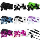 Black White Hot Pink Blue Skull Hybrid Case For Samsung Galaxy Note II 2+Headset