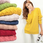 New Girl's Twisted Loose Knitted Sweater Long-sleeve Pullover Sweater WZM132