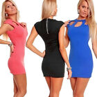 Womens Cap Sleeve Sexy Slim Fit Hip Package Pierced Clubwear Party Evening Dress