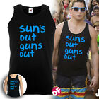 Suns Out Guns Out Mens Vest Gym Summer Surf Movie Tshirt 22 Jump Street Sun's