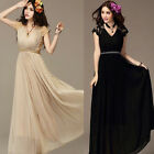 2Styles Long Lace Cocktail Evening Party Chiffon Maxi Vintage Womens Dress 8-18