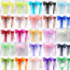 20*275cm Organza Chair Cover Sash Bow Wedding Anniversary Party Reception Decor