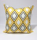 Annie Slub Yellow / White / Gray Pillow Case / Pillow Cover/Kidney pillow/sham