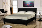 LEATHER BED-DOUBLE KING-BLACK-BROWN- With MEMORY FOAM-ORTHOPAEDIC MATTRESS