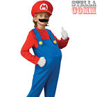 Boys Official Deluxe Super Mario Bros 80s Game Fancy Dress Costume Child Outfit