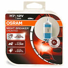 Pair Of H7 Osram Night Breaker Unlimited Headlight Bulbs Twin Pack 64210NBU-HCB