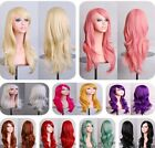 70cm Heat Resistant Fashion Long Wavy Curly Cosplay Wigs Full Wig Party Dress