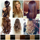 long straight curly Thick clip in hair extensions one piece 3/4 full head hair