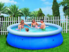 "Easy Fast Set 10ft x 30"" 10' foot Family Swimming Paddling Pool Garden Outdoor"
