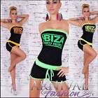 NEW italian FUNKY OVERALL 6 8 10 12 SEXY JUMPSUIT XS S M L casual wear HOT PANTS