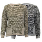 ladies jumper Brave Soul womens cable knitted mohair baggy top winter crew neck