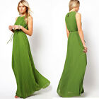 Fashion Womens Pleated Dress Elegant Chiffon Boho Sexy Long Evening Party Dress