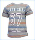 Boys/Baby/Kids Short Sleeved T Shirt Cali Surf Cotton Grey 1 1/2 2 3 4 5 6 Years