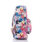 2 Designs 1Pc Mixed-color Floral Pattern Canvas Backpack Lovely Ladys Backpack