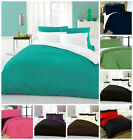Complete 4 Pcs Reversible Duvet/Quilt Cover Bed Set +Fitted Sheet, 3 Size