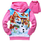 Kids Girls Frozen Elsa Olaf Long Sleeve Hoody Hoodie Tops Coat Size:2-8 Years