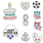 10PCs Floating Charms For Living Memory Locket Pendant Necklace Silver Tone
