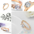 Women's Creative 9K Rose Gold Plated Austrian Crystal Wedding Party Jewelry Ring