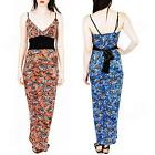New Womens Ladies Sexy Party Floral Print Summer Maxi Dress Sizes: 8 10 12 S M L
