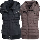 Fresh Made Damen Daunen Stepp Weste ärmellos Winterjacke Winter Jacke 80018A