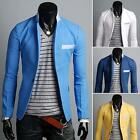 Jeansian Mens Jackets Coats Shirts Blazers Collar Stylish Slim 4 Colors 9050