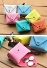 ute Lovely Marcaron Color Suitcase Button Coin Purse Container Storage Lady Gift