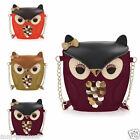 Women Satchel Messenger Shoulder Bag Cute Girls Handbag Cross Body Purse OWL