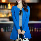 New Women's Korean Style Candy Color Outwear Long Pattern Slim Coat 4 Colors