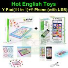 Baby English Educational Toys: Y pad (11 in 1) + Y Phone (USB), Learning Machine