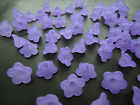 12x7mm 25 / 50grams FROSTED PURPLE COLOR ACRYLIC FLOWER BEADS CHARMS CN04823