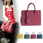 Women Vintage Retro Fashion Matte Leather Platinum Handbag Shoulder Totes Bag