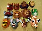 ANIMAL MASKS:  RED FOX, FROG, GIRAFFE, HORSE, LION, MONKEY, MOUSE ADULT KIDS